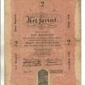 Az első magyar bankjegy