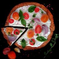 Karfiol és cékla alapú pizza