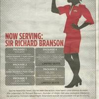 A nap képe: Richard Branson, mint stewardess