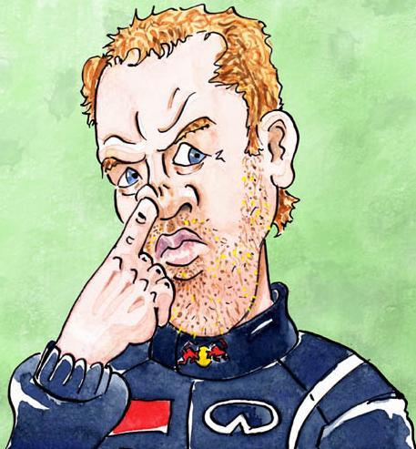 Sebastian Vettel erre használja a mutatóujját