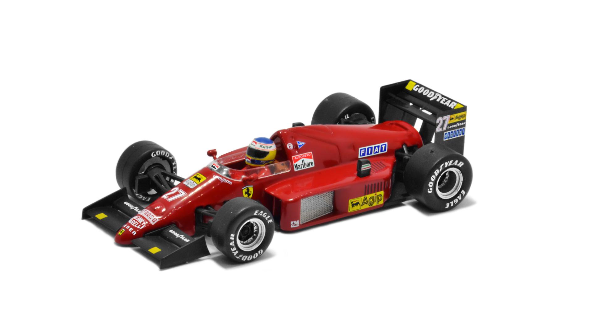 Év: 1986<br />Modell: F1/86<br />Gyártó: Altaya (átalakított)<br />Pilóta: Michele Alboreto