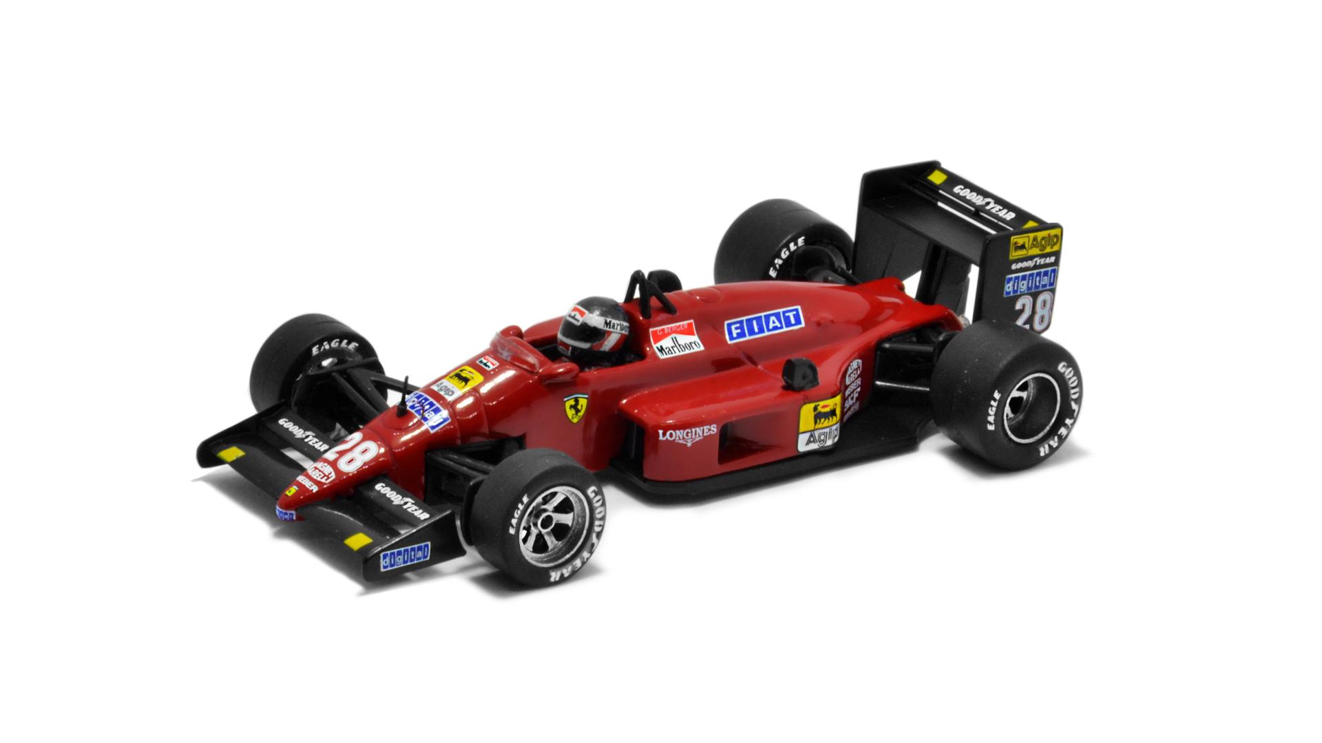 Év: 1987<br />Modell: F1/87<br />Gyártó: Atlas (átalakított)<br />Pilóta: Gerhard Berger