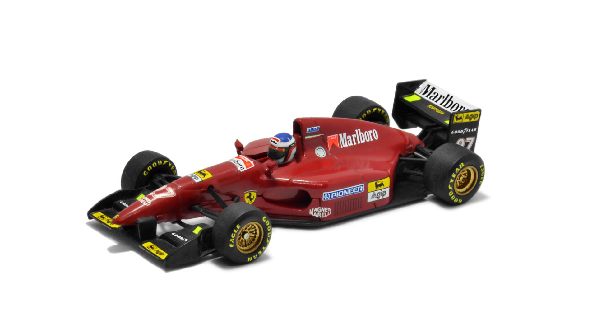 Év: 1994<br />Modell: F412T1<br />Gyártó: Minichamps<br />Pilóta: Jean Alesi
