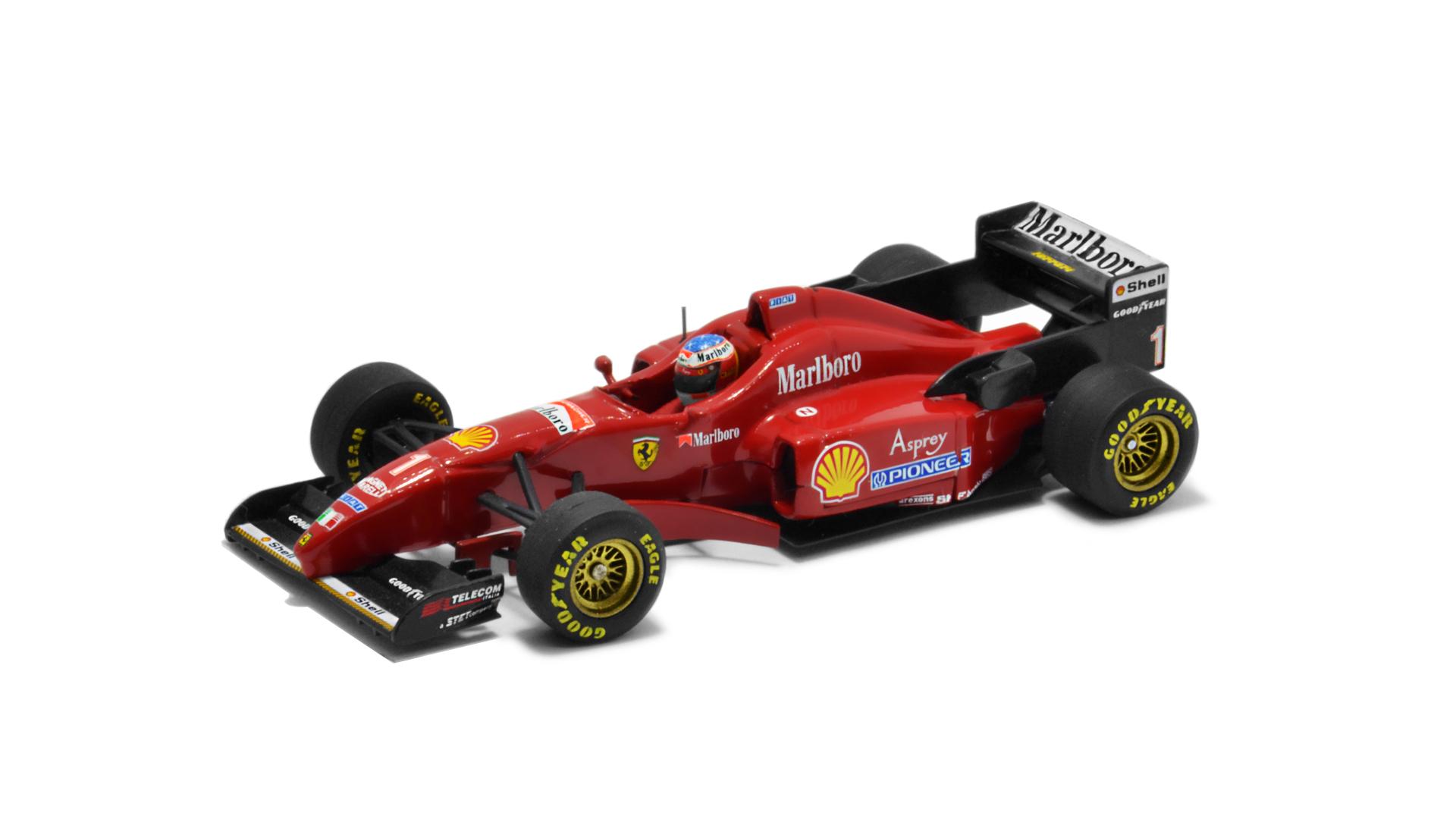 Év: 1996<br />Modell: F310<br />Gyártó: Minichamps<br />Pilóta: Michael Schumacher