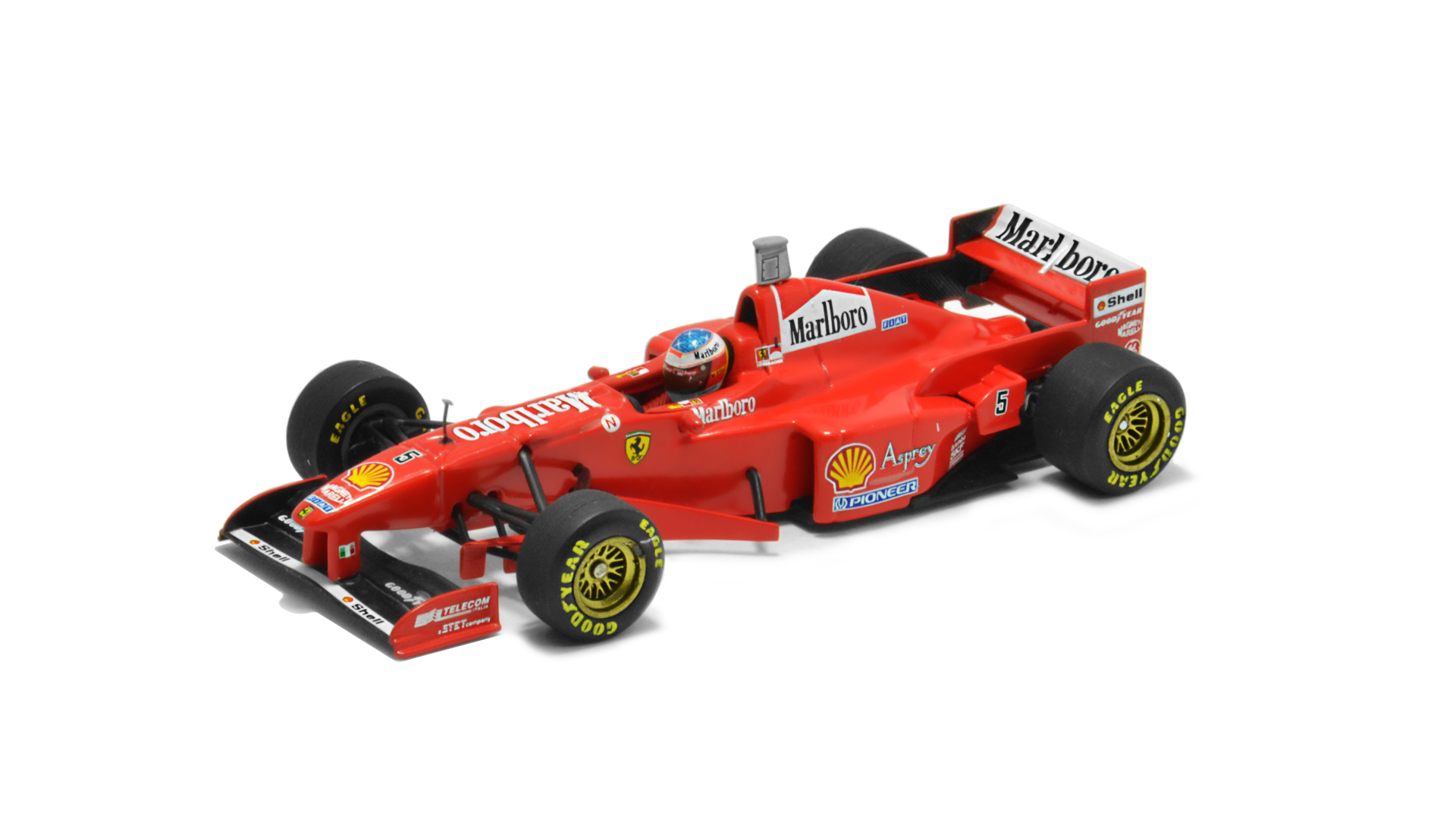 Év: 1997<br />Modell: F310B<br />Gyártó: Minichamps<br />Pilóta: Michael Schumacher