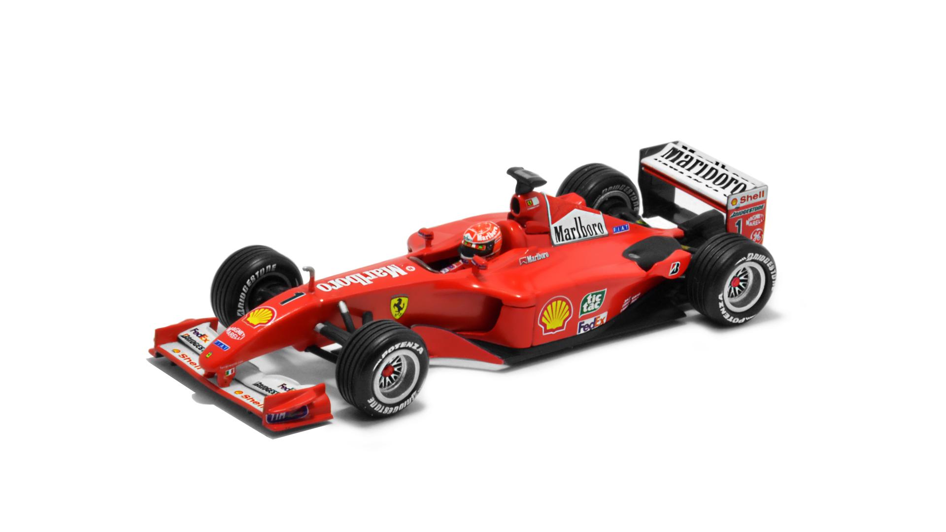 Év: 2001<br />Modell: F2001<br />Gyártó: Hot Wheels<br />Pilóta: Michael Schumacher