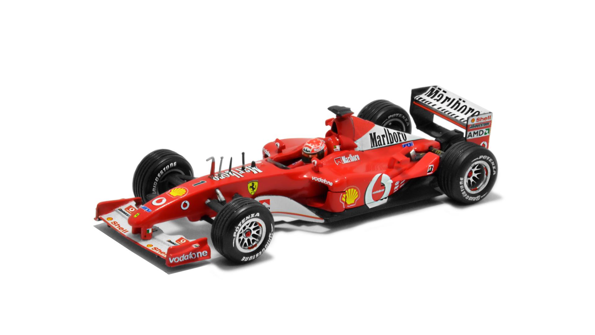 Év: 2002<br />Modell: F2002<br />Gyártó: Hot Wheels<br />Pilóta: Michael Schumacher