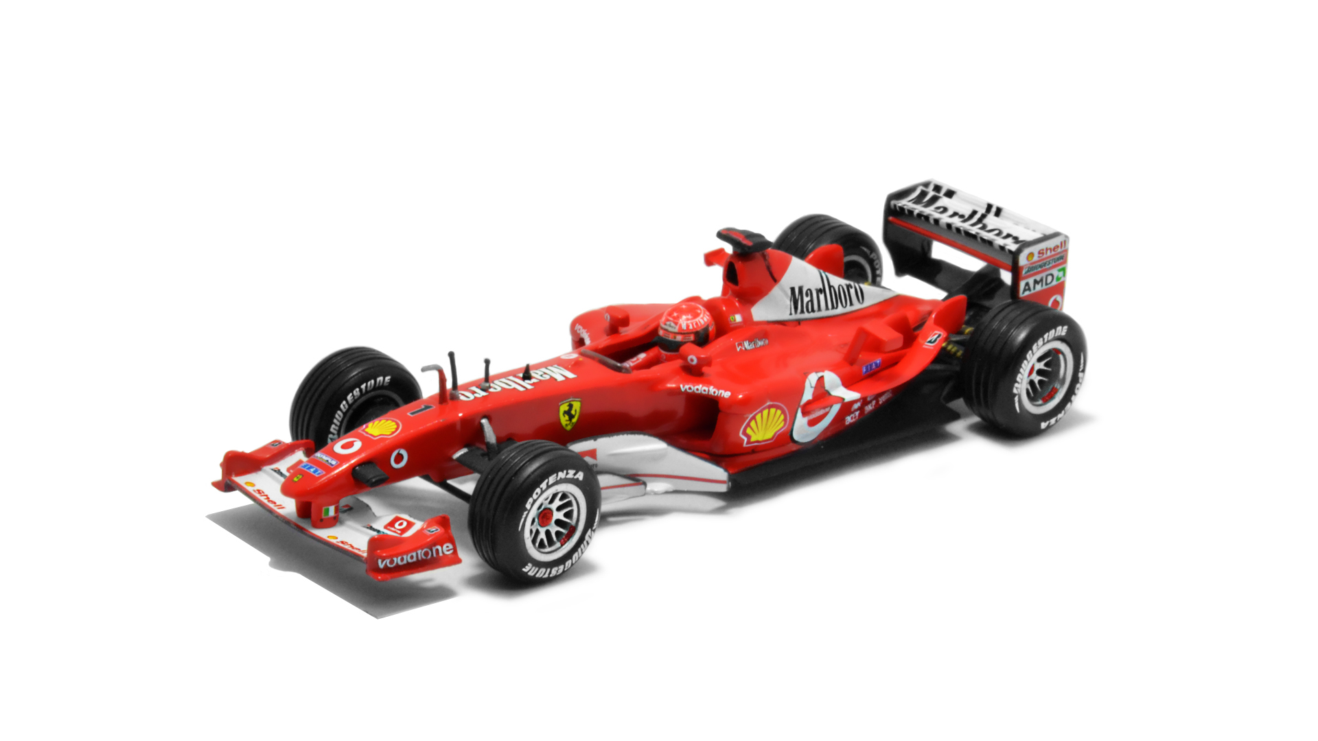 Év: 2003<br />Modell: F2003-GA<br />Gyártó: Hot Wheels<br />Pilóta: Michael Schumacher