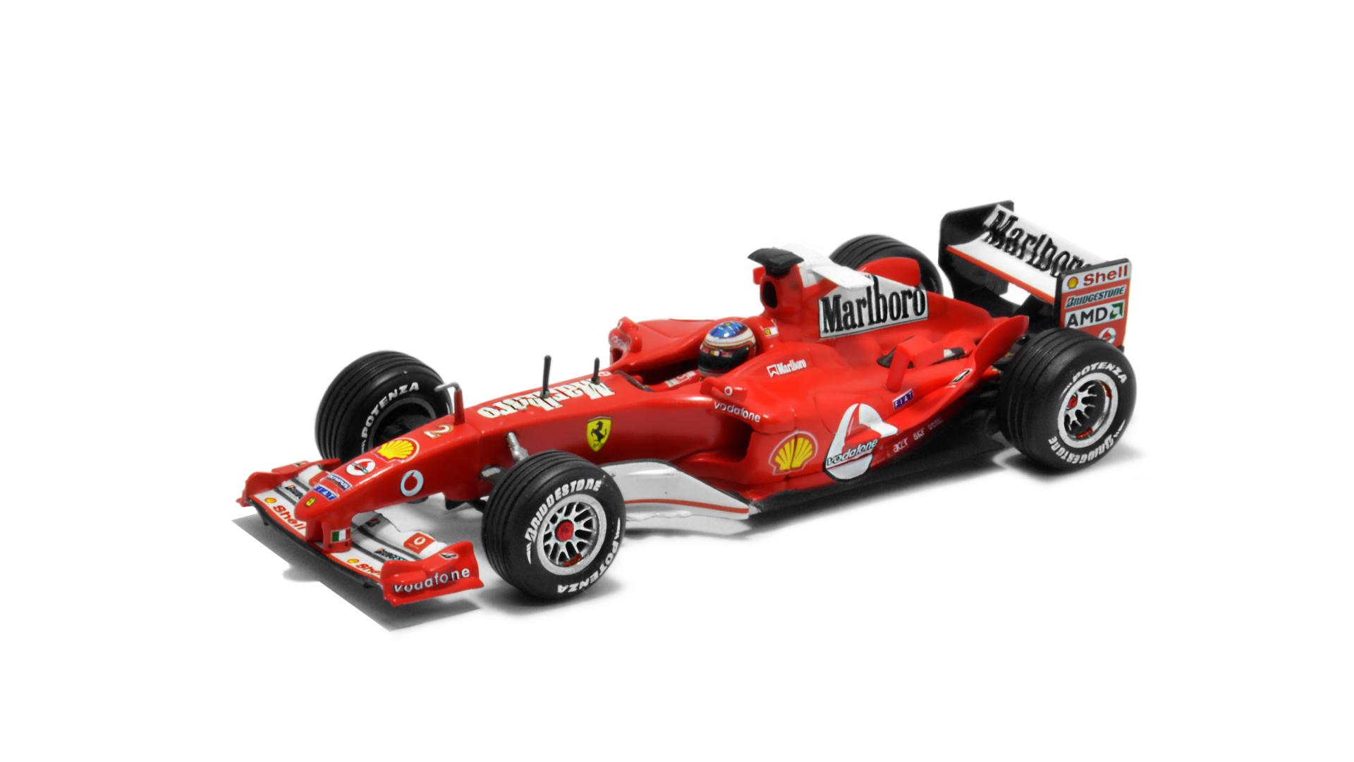 Év: 2004<br />Modell: F2004<br />Gyártó: Hot Wheels<br />Pilóta: Rubens Barrichello