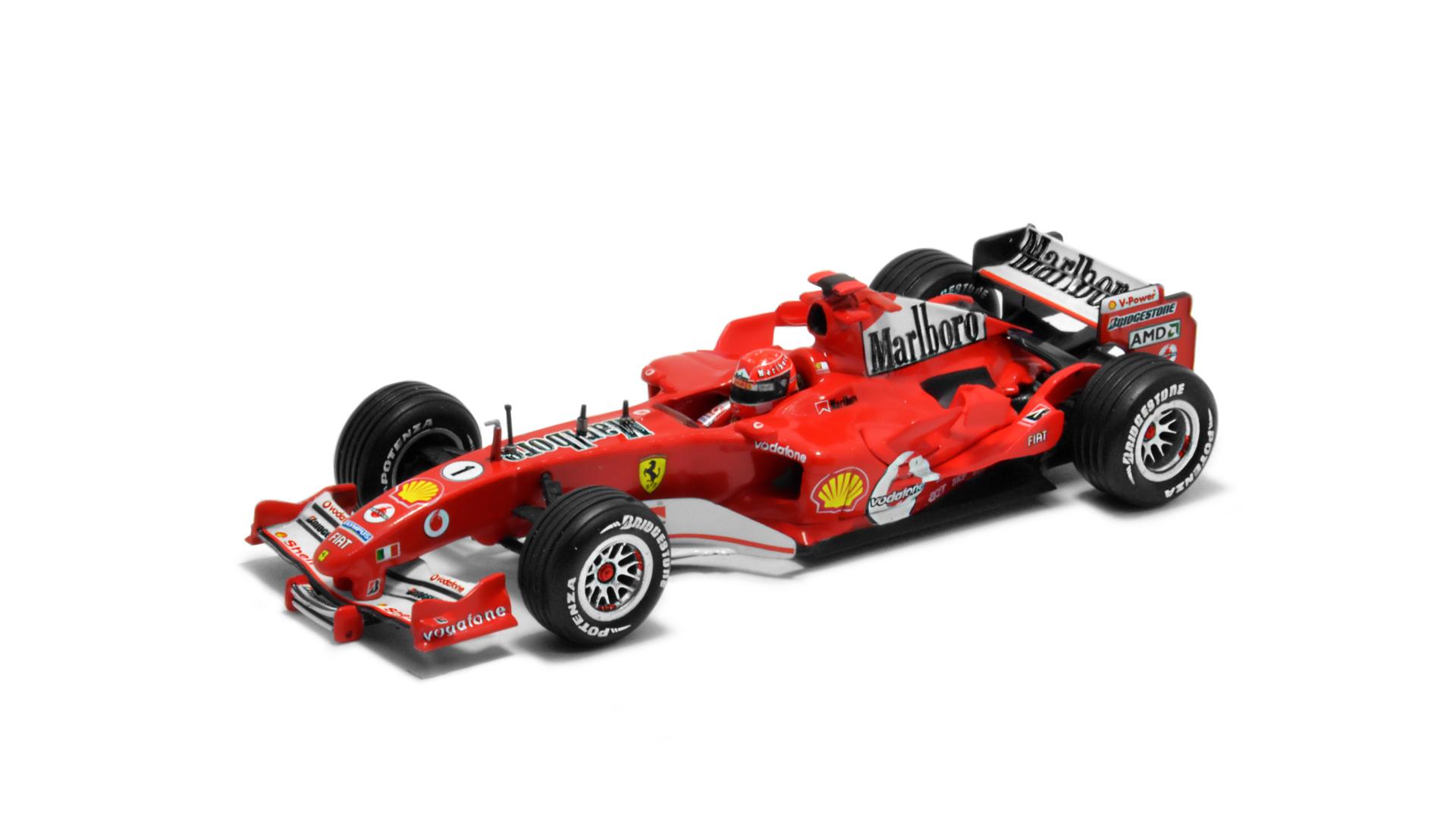 Év: 2005<br />Modell: F2005<br />Gyártó: Hot Wheels<br />Pilóta: Michael Schumacher
