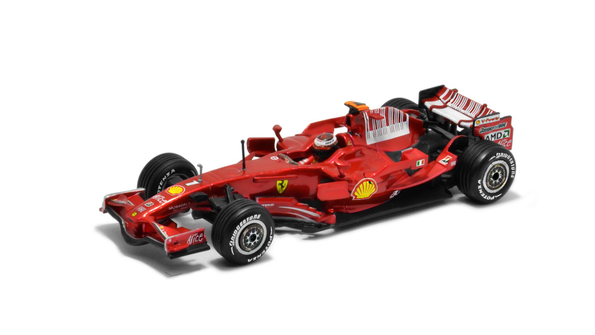 Év: 2008<br />Modell: F2008<br />Gyártó: Hot Wheels<br />Pilóta: Kimi Räikkönen