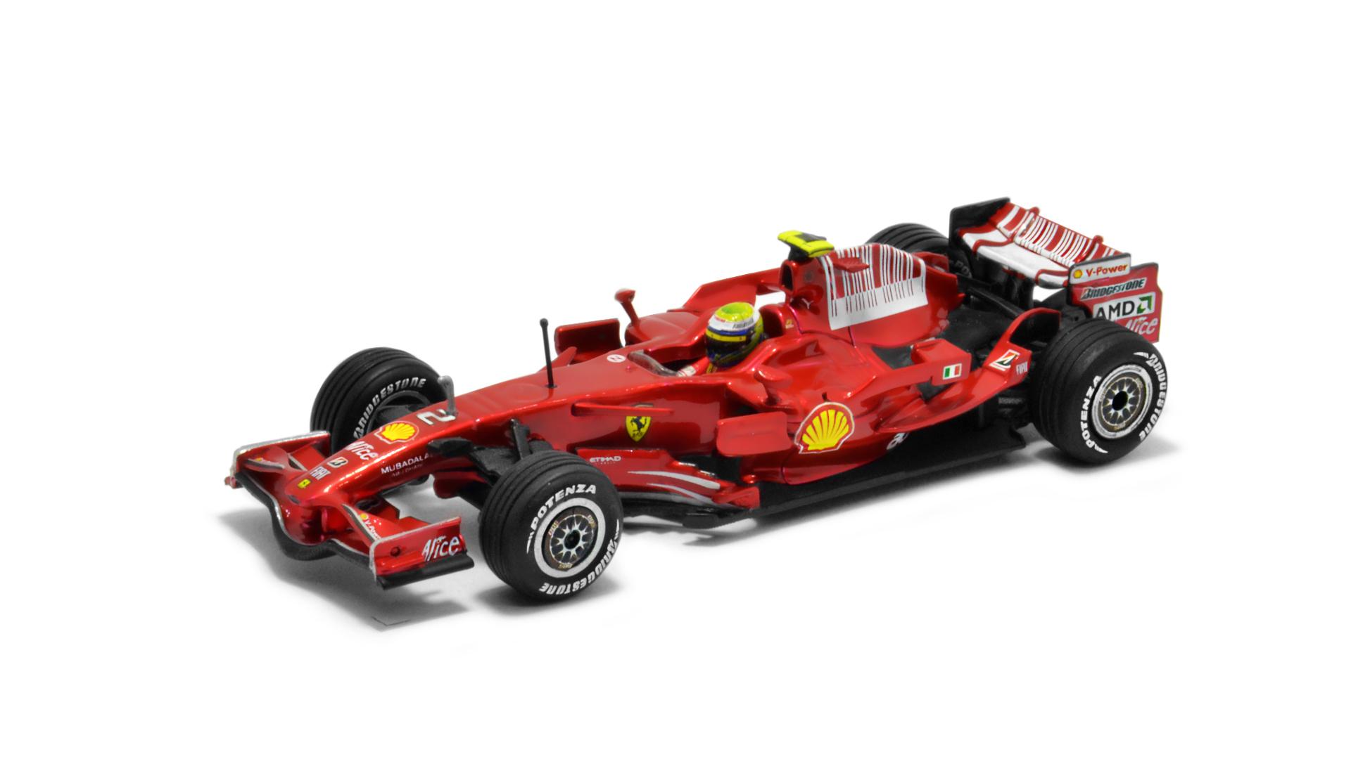 Év: 2008<br />Modell: F2008<br />Gyártó: Hot Wheels<br />Pilóta: Felipe Massa