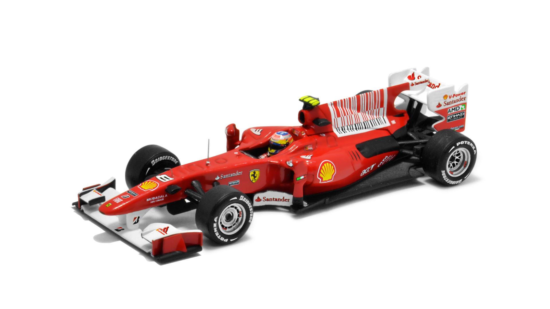 Év: 2010<br />Modell: F10<br />Gyártó: Hot Wheels<br />Pilóta: Fernando Alonso