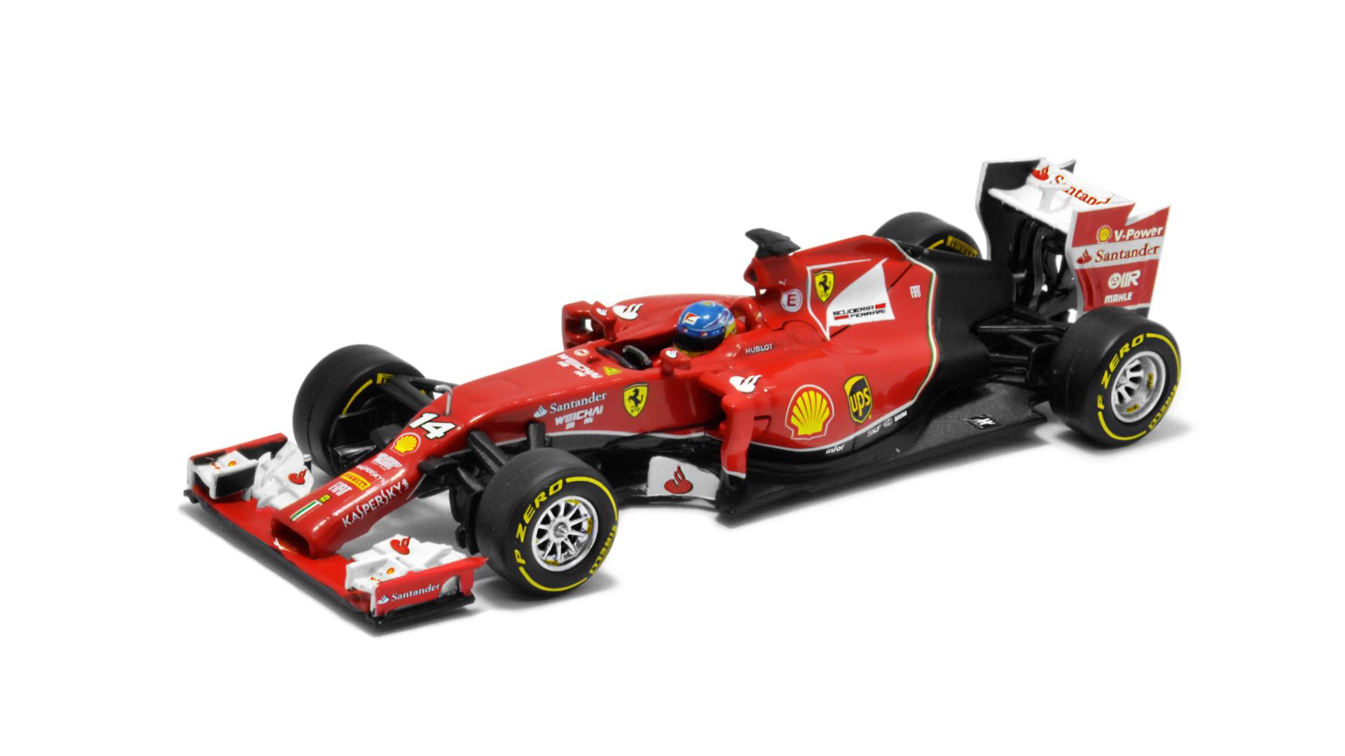 Év: 2014<br />Modell: F14T<br />Gyártó: Hot Wheels<br />Pilóta: Fernando Alonso