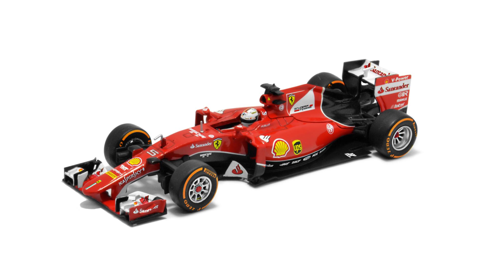 Év: 2015<br />Modell: SF15-T<br />Gyártó: Altaya (átalakított)<br />Pilóta: Sebastian Vettel