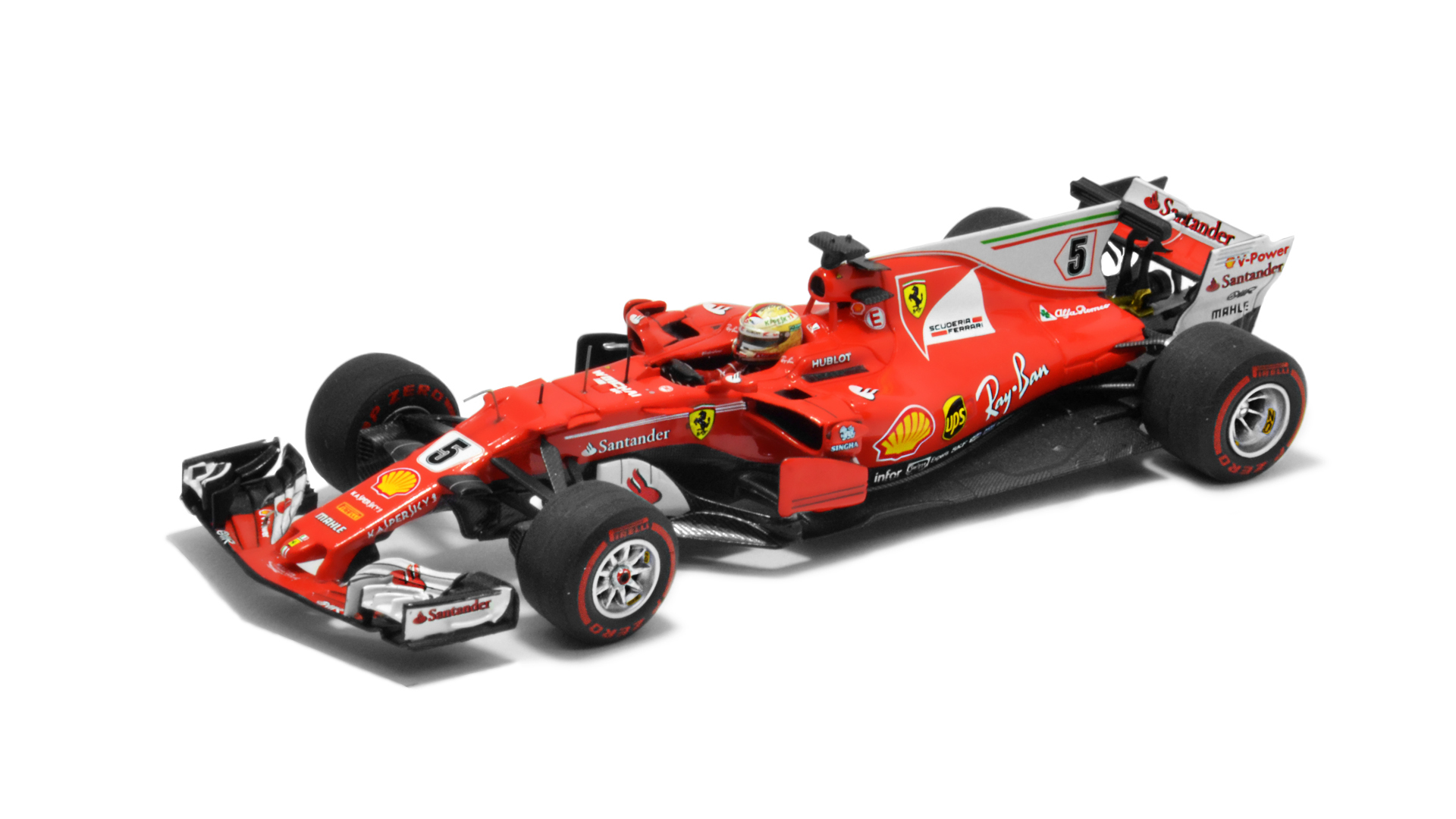 Év: 2017<br />Modell: SF70H<br />Gyártó: Looksmart<br />Pilóta: Sebastian Vettel