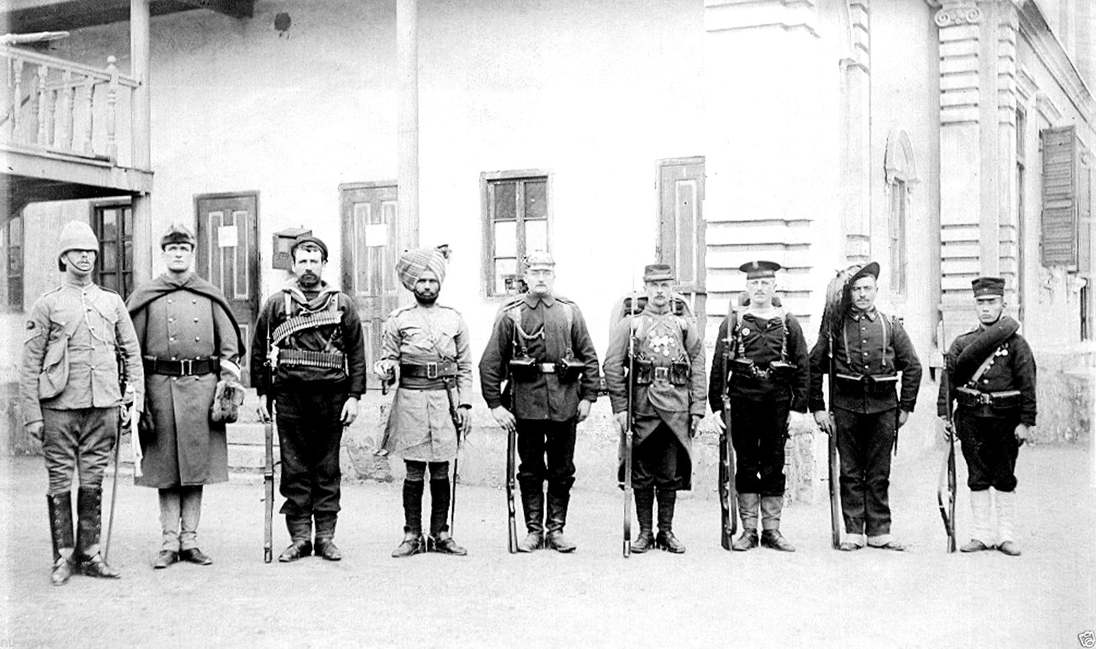 A Nyolc Nemzet Szövetsége. Balról jobbra haladva: Egyesült Királyság, Egyesült Államok, Oroszország, Brit-India, Németország, Franciaország, Osztrák-Magyar Monarchia, Olaszország, Japán (Forrás: ns06.com)