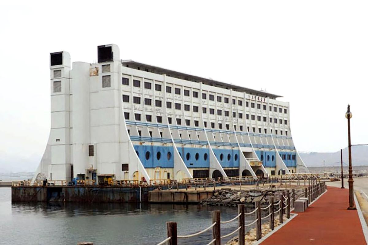 Itt már Észak-Koreában, mint Haegumgang Hotel (Forrás: Panoramio.comÖ