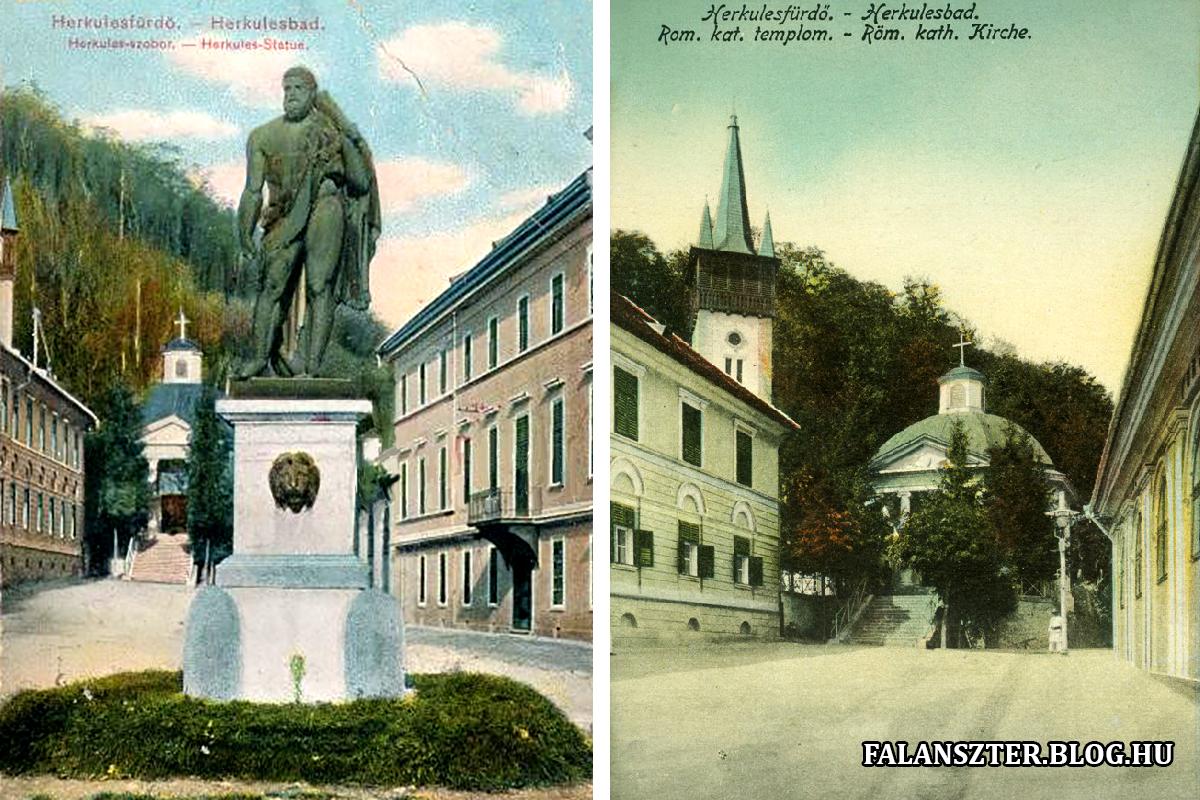 Herkules és a római katolikus kápolna. (Forrás: Falanszter.blog.hu)