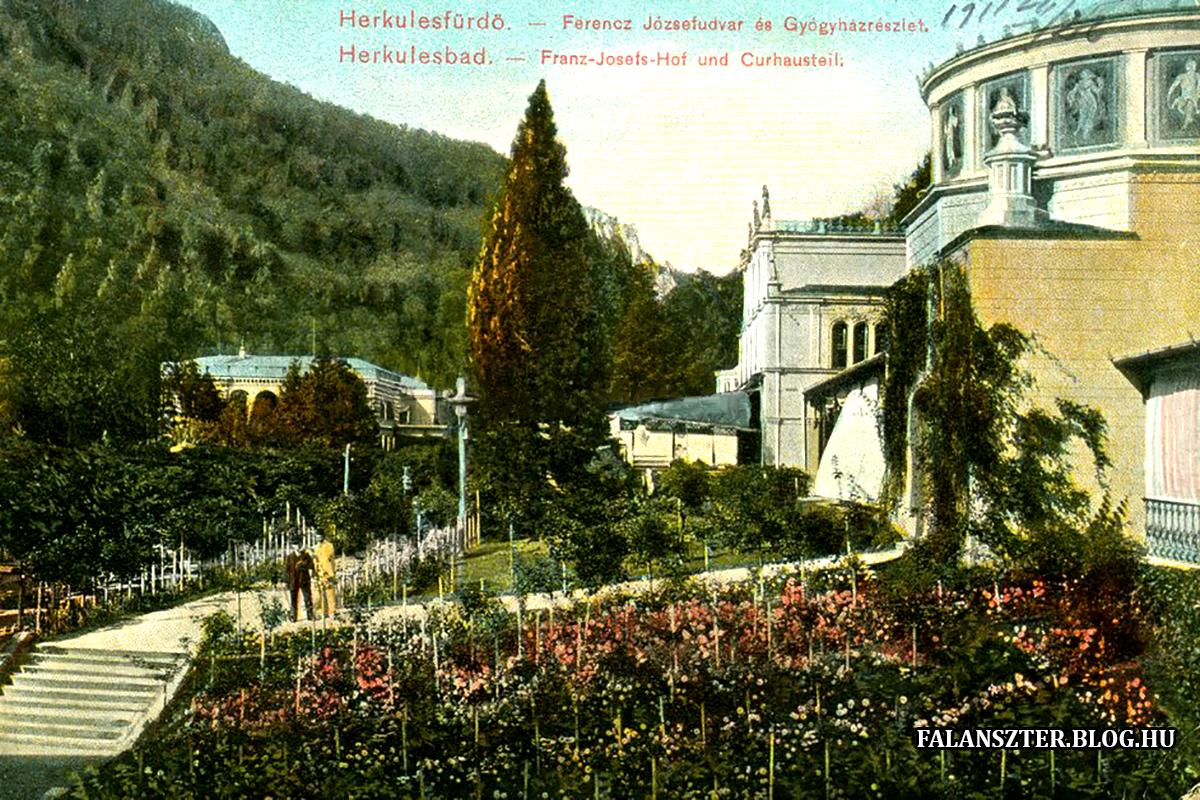 Az épület mögötti egykori pihenőpark (Forrás: Falanszter.blog.hu)