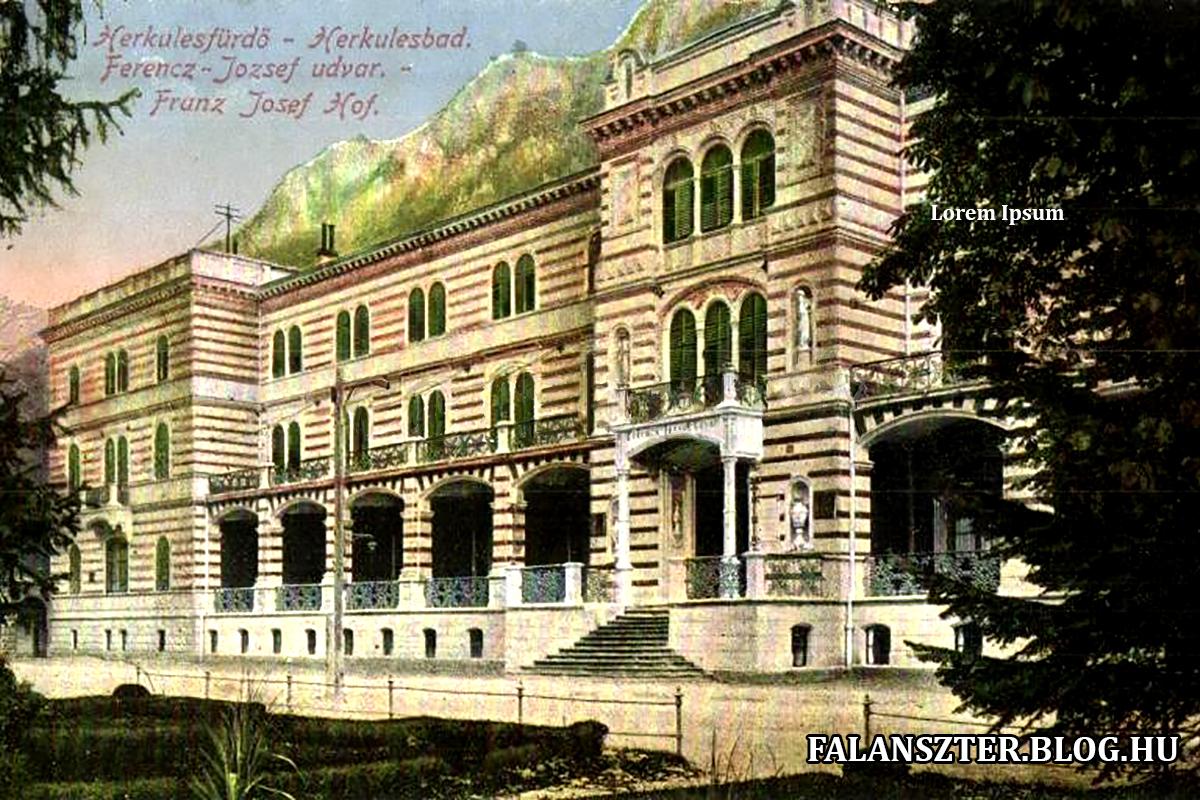 A Ferenc József-udvar fénykorában (Forrás: Falanszter.blog.hu)