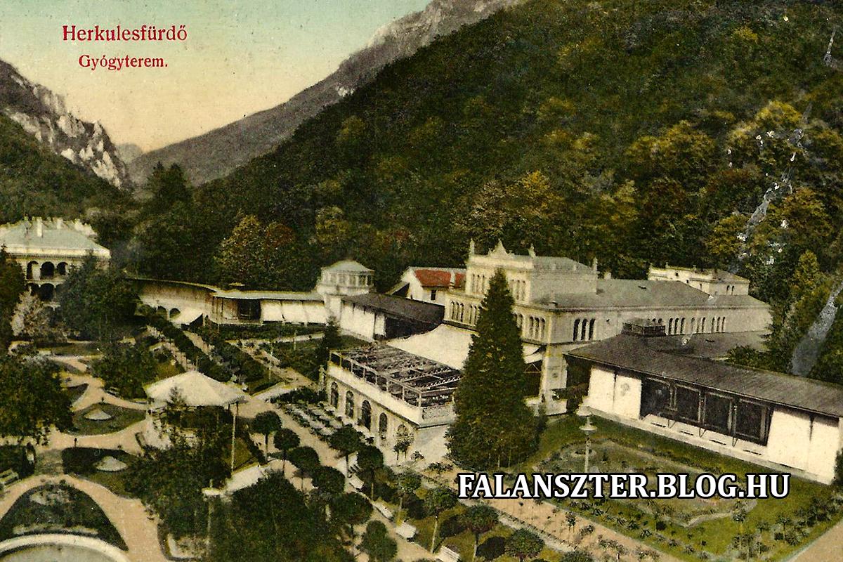 A Gyógycsarnok és az előtte elterülő Gizella Park. (Forrás: Falanszter.blog.hu)