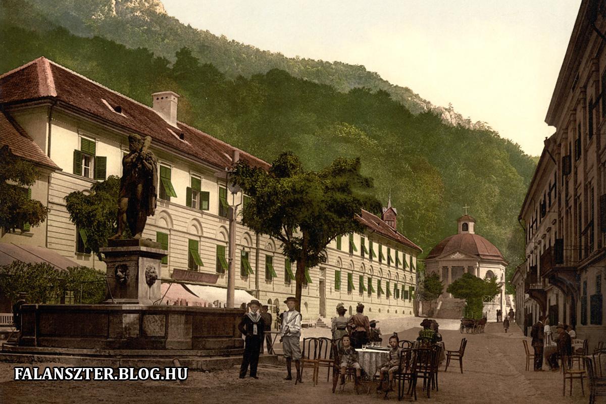 A Herkules tér nyugati oldalának első háza, a Katonafürdő (Forrás: Falanszter.blog.hu)