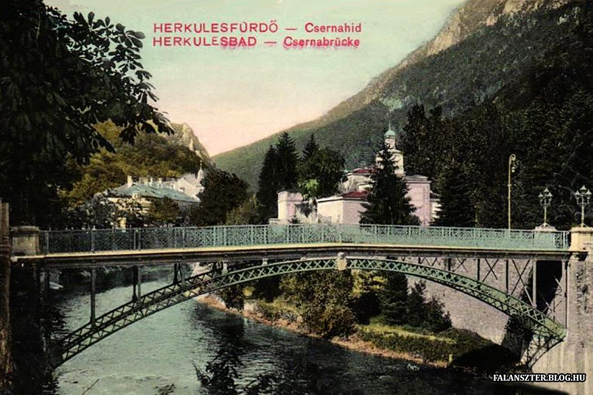 A Tatarczy-villa, a későbbi Erzsébet-szálló. Előtérben a Maderscpach Vasgyár készített híd. (Forrás: Falanszter.blog.hu)