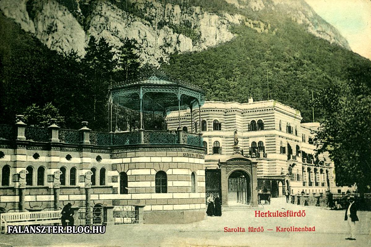 A Sarolta-fürdő déli vége, a körbástyában végződő terasszal. (Forrás: Falanszter.blog.hu)