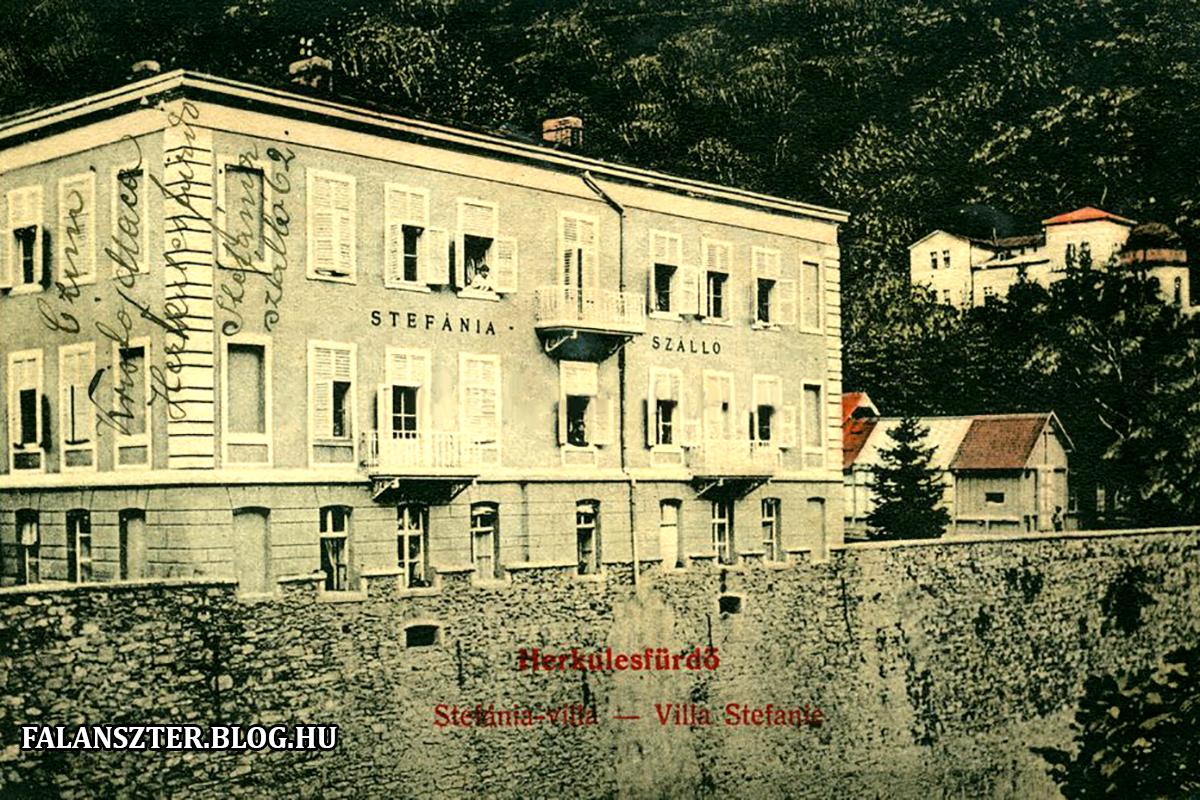 A Stefánia-szálló a Cserna felől. (Forrás: Falanszter.blog.hu)