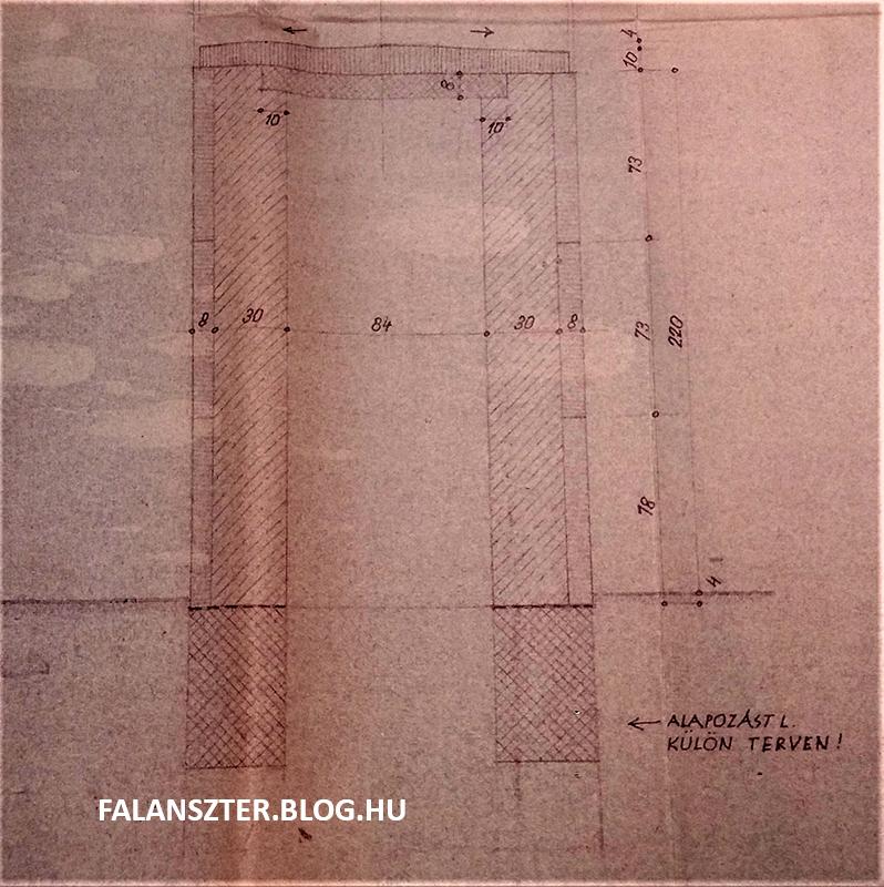 Alapozás külön tervben! A pártház emeletéről a mélybe induló akna egyetlen fennmaradt dokumentációja (Fotó: Dézsy Zoltán)