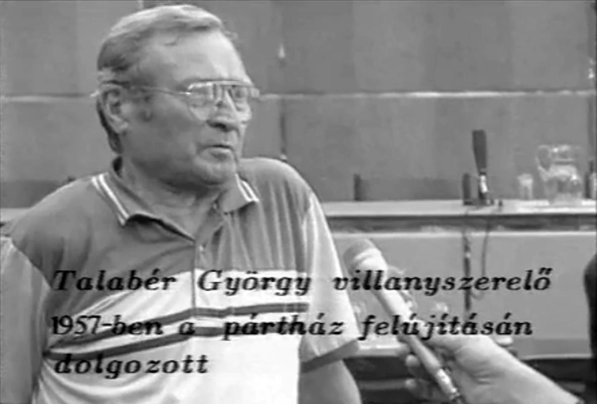 Talabér György egykori szemtanú  - Jelenet a Pincebörtön filmből
