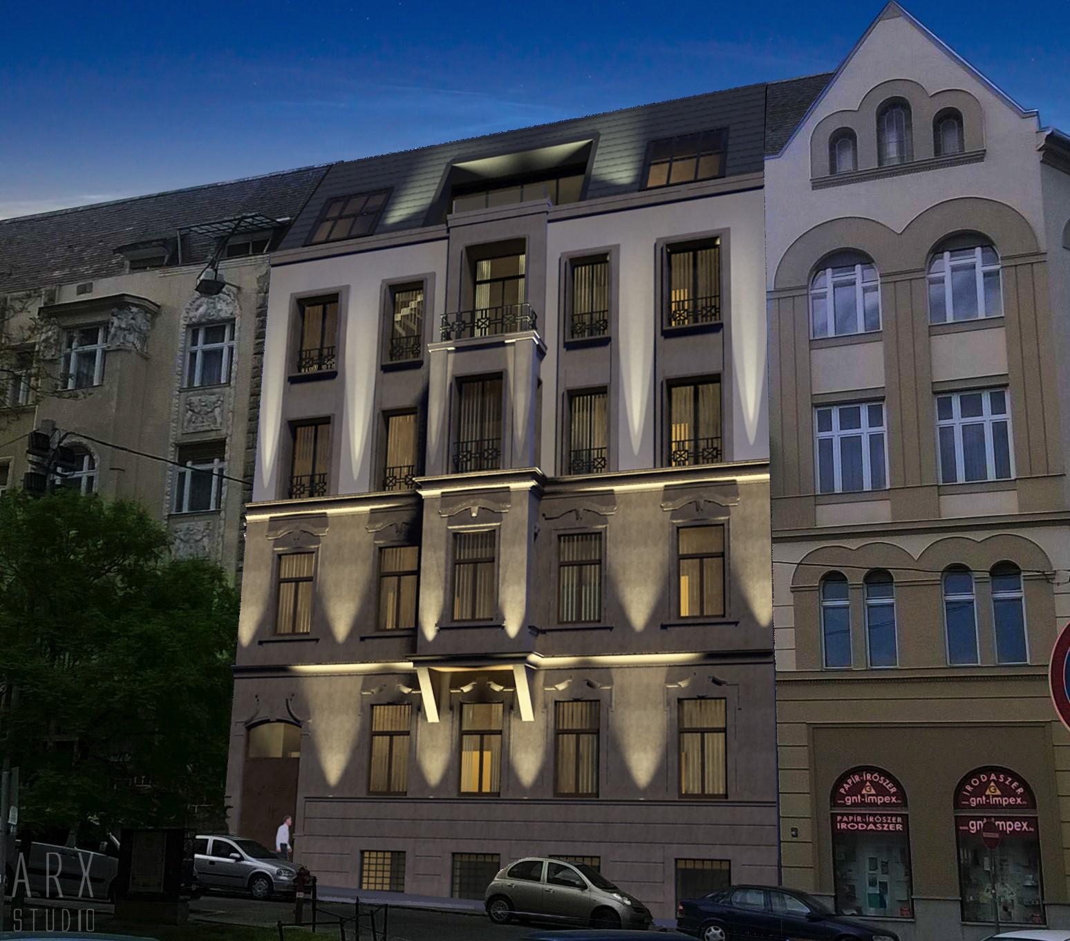 A Gyöngyössy György jegyezte ráépítés terve. (Forrás: Laki Zrt.)
