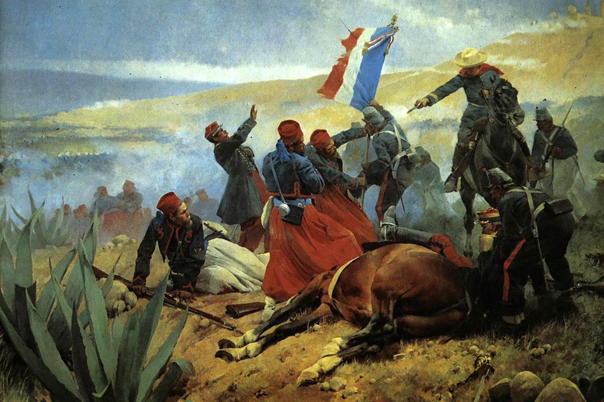 A pueblai csata. (Francisco de Paula Mendoza festménye 1901)