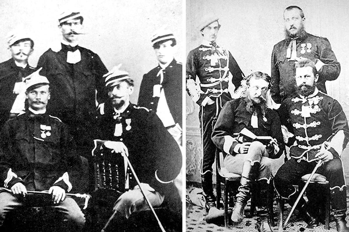 Lengyel ulánusok és magyar huszárok, a híres vörös ördögök (Montázs: Falanszter.blog.hu)