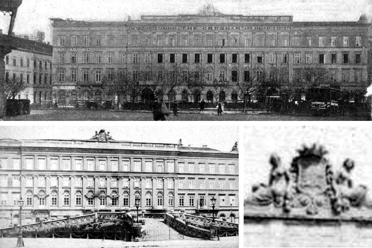 A Nákó-palota fénykorában. (Fotó: Tolnai Világlapja, Képes Újság, grafika: Falanszter.blog.hu)
