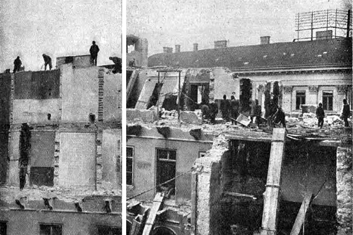 A Nákó-palota bontása (Fotó: Tolnai Világlapja)