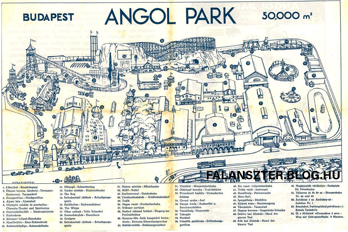 Az Angol Park fénykorában. 1933-as prospektus a bulinegyedről. (Forrás: Falanszter.blog.hu)