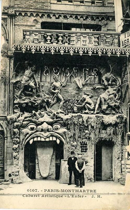 'Ki itt belépsz, hagyj fel minden reménnyel' Az 1893-as homlokzati átalakítás után. (Fotó: Parismuseescollections.paris.fr.)