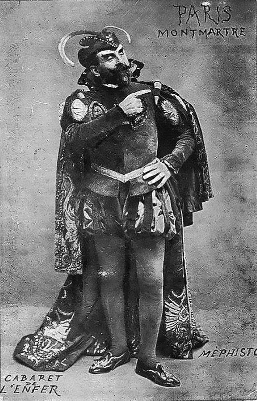 Az ötlegazda, Antonin Alexander mefisztói jelmezben (Fotó: Wikipedia.fr.)