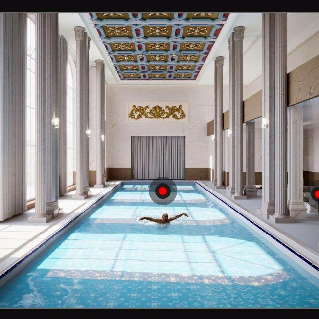 Az úszómedence. (Fotó: Palace.navalny.com)