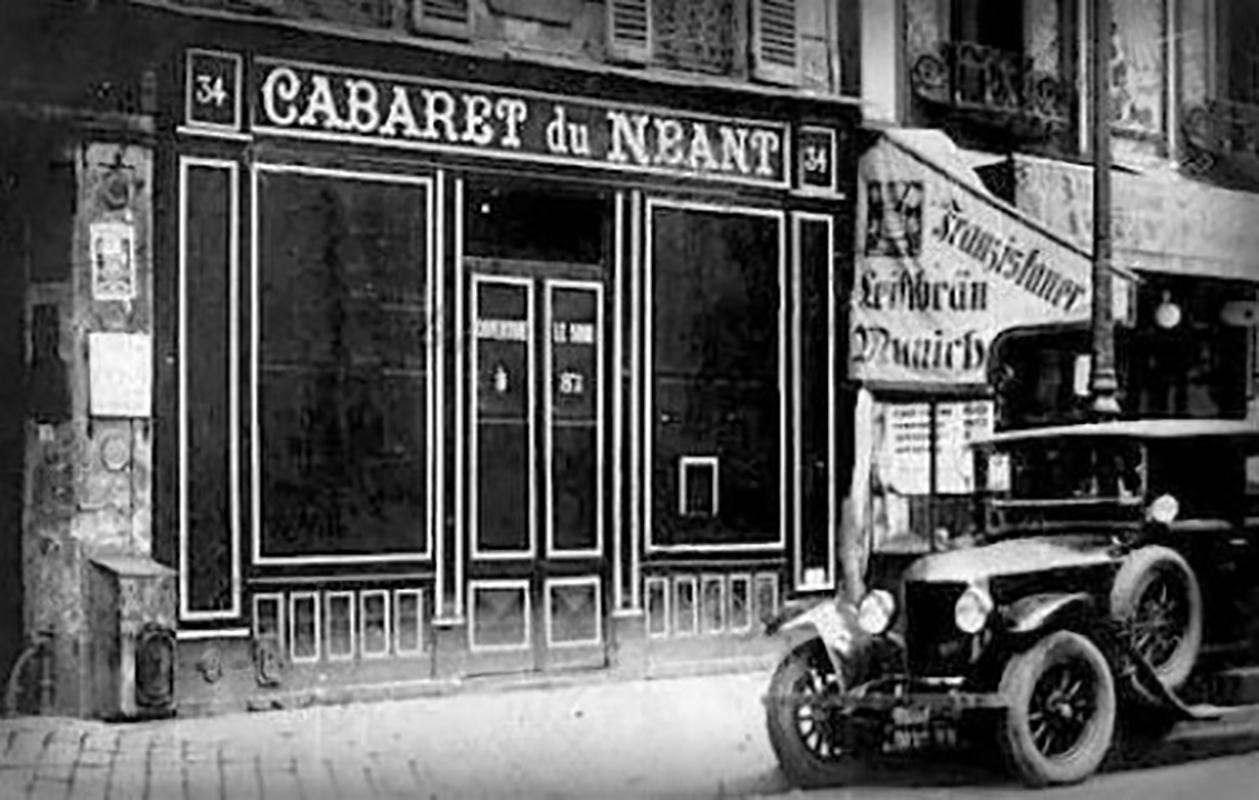 A ravatalozónak kialakított Semmi Kabaré bejárata (Fotó: Wikipedia.fr.)