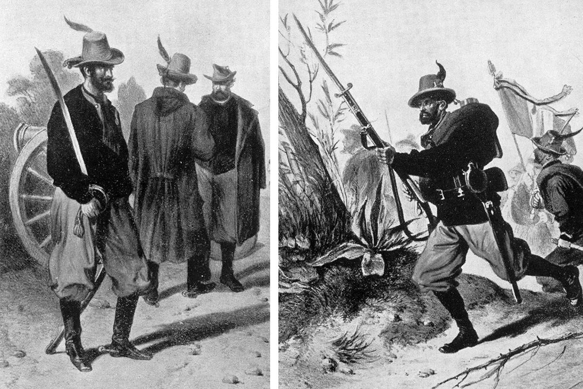 Baloldalt vadásztiszt és tüzér, jobbra egy támadó vadász (Montázs: Falanszter.blog.hu)