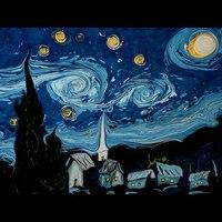 Vízen úszó Van Gogh festmények
