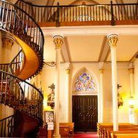 A Loretto kápolna lépcsője (Santa Fe, Új Mexikó, USA)