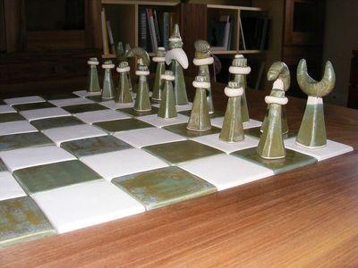 kerámia sakkbábuk