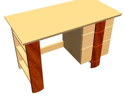 Íróasztal terv