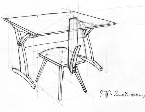 Íróasztal rajz