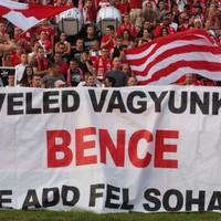 DVTK szurkolók üzenete Bencéhez