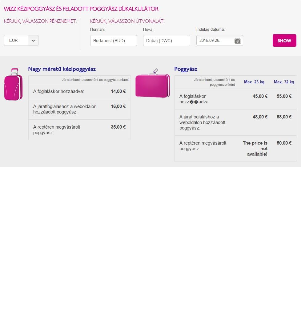 d753c1a53632 Volt egy nagyon jó dolog a Wizz Airben - mától ennek is vége ...